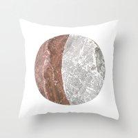 Planetary Bodies - Cresc… Throw Pillow