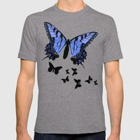 Butterflies Mens Fitted Tee Tri-Grey SMALL
