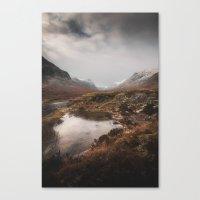 Frozen Mountains Canvas Print