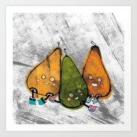 Drunken Pears Brothers Art Print