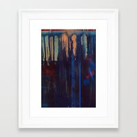 lust indigo Framed Art Print