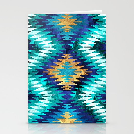Inverted Navajo Suns Stationery Card