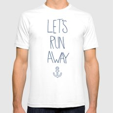 Let's Run Away: Sandy Beach, Hawaii Mens Fitted Tee White SMALL