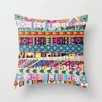 Tribal Mix Throw Pillow