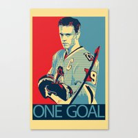 Towes One Goal Canvas Print