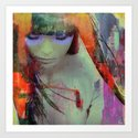 Touch right in the heart by your love Art Print