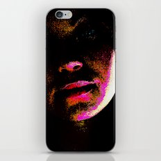 magenta glitch iPhone & iPod Skin