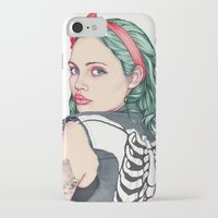 girl iPhone & iPod Cases featuring GIRL by Laura O'Connor