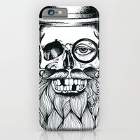iPhone & iPod Case featuring Mr. Skull Beard by Adam LoRusso (Last Light Art)