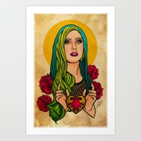 Lady Icon Art Print