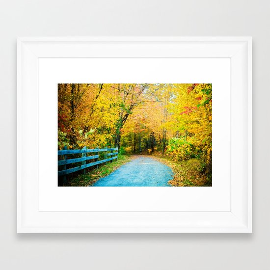 """Autumn Trail"" Framed Art Print"