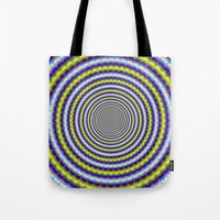 Toothed Rings In Blue An… Tote Bag