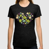 Heart Of Pollen Womens Fitted Tee Tri-Black SMALL