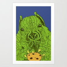 cthulhu wants a cookie Art Print