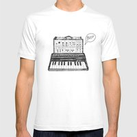 Keyboard.  Mens Fitted Tee White SMALL