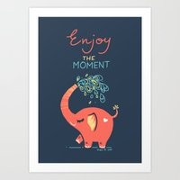 Enjoy the Moment Art Print