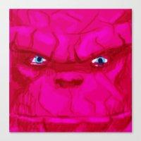Post-it Portrait: Ben Gr… Canvas Print