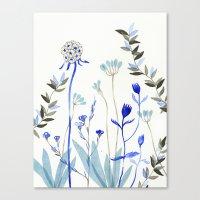 Blue Garden Canvas Print