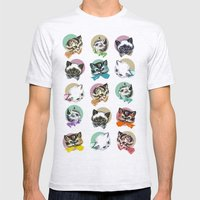 Cats & Bowties Mens Fitted Tee Ash Grey SMALL