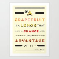 Oscar Wilde: A Grapefrui… Art Print