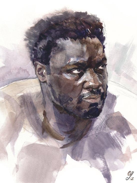Adewale Akinnuoye-Agbaje (Mr. Eko) Art Print