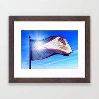 American Samoa Flag Wavi… Framed Art Print