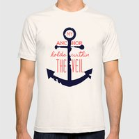 THE ANCHOR Mens Fitted Tee Natural SMALL