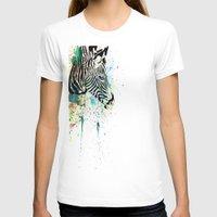 zebra T-shirts featuring Zebra by Del Vecchio Art by Aureo Del Vecchio