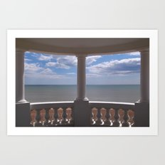 Sea View from a Small Pavilion Art Print