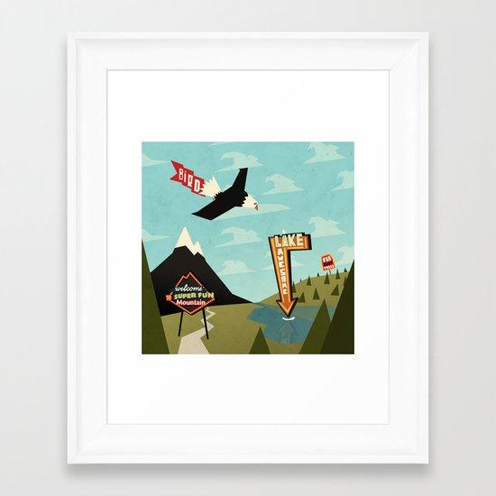 Outdoor Advertisement Framed Art Print