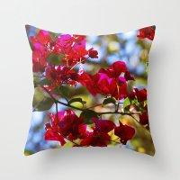 Bougainvillea I Throw Pillow