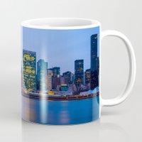 Beginning of the night over Manhattan Mug