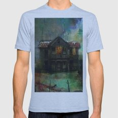 Haunted house Mens Fitted Tee Athletic Blue SMALL