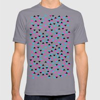 Electric Triangles Mens Fitted Tee Slate SMALL