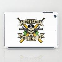 Gangsta Rap Made Me Do It iPad Case