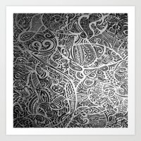 Silver Vivid  Art Print