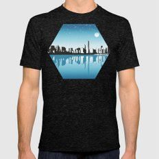 Cityscape Mens Fitted Tee Tri-Black SMALL