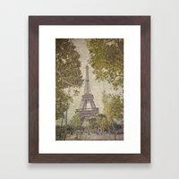 The painted Eiffel Framed Art Print