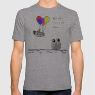 To Be A Flying Penguin  Mens Fitted Tee Athletic Grey SMALL