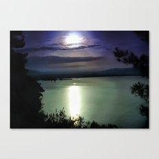 Blue Coastal Sunset Canvas Print