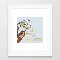 Me&You Framed Art Print