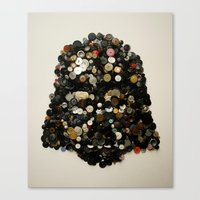 Darth Buttons Canvas Print
