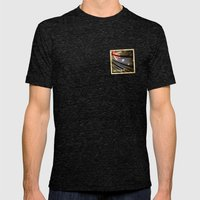 Grunge Sticker Of Austra… Mens Fitted Tee Tri-Black SMALL