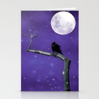 Moonlit Winter Sky Stationery Cards