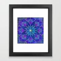 Lotus 2 - Blue And Purpl… Framed Art Print