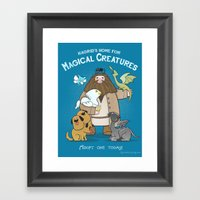 Hagrid's Home For Magica… Framed Art Print
