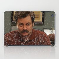 Ron Swanson, Nick Offerman, Parks and recreation iPad Case
