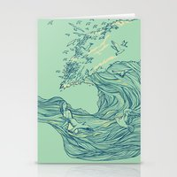 waves Stationery Cards featuring Ocean Breath by Huebucket