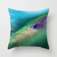 Through The Waves Throw Pillow
