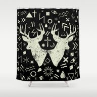 Punk Pattern Shower Curtain